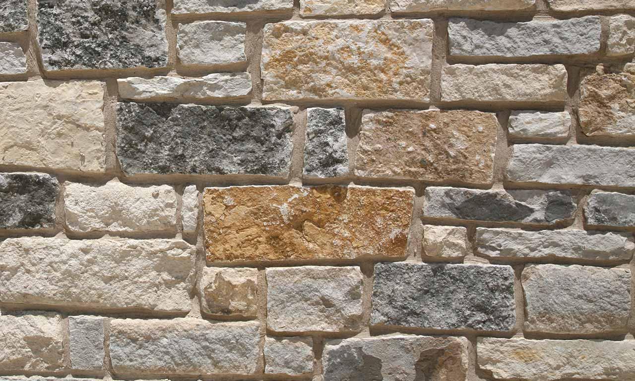 stone texas natural mix chopped veneer thin limestone nature colors