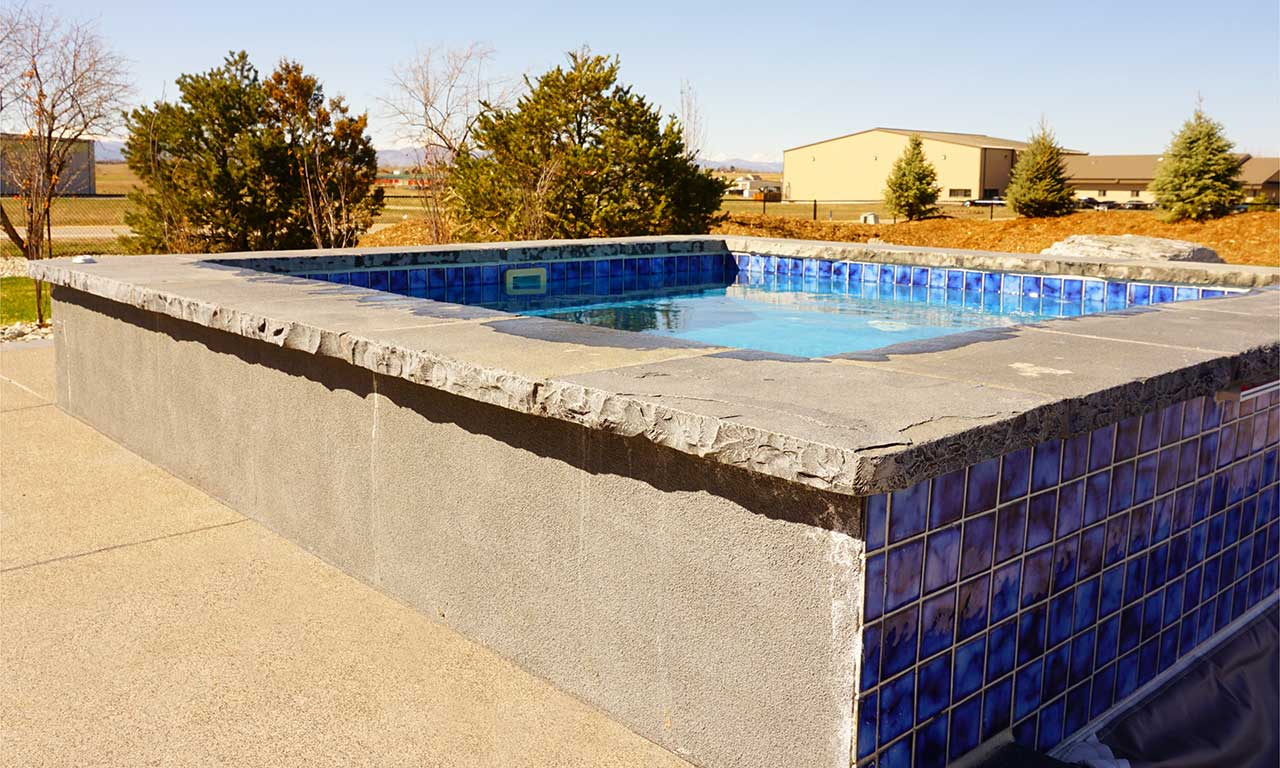 Landscaping And Swimming Pool Stone And Coping