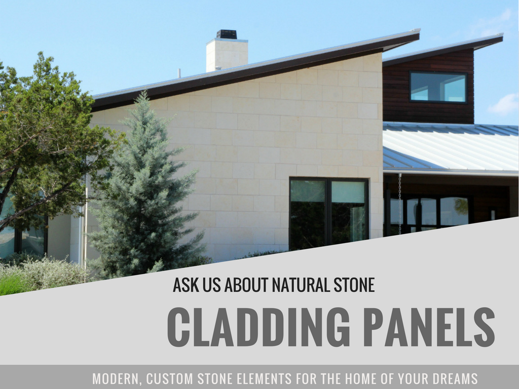 Custom Limestone cladding panels fabricated at central Texas quarry